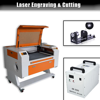 700x500mm CO2 80W Laser Engraving Cutting Machine + Rotary Axis + CW3000 • 1,969.99£