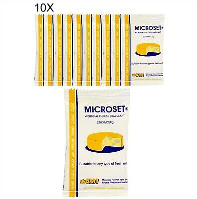Rennet Microbial Mix 10 X 5g Cheese Coagulant Suitable For Vegetarians Non-GMO  • 8.99£