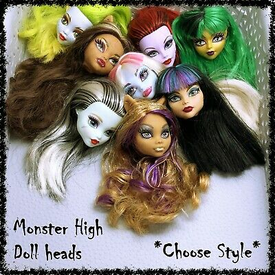 MONSTER HIGH Doll Head, Spares, Restyle, OOAK ~SELECT STYLE~ 1 Incl. • 5.99£