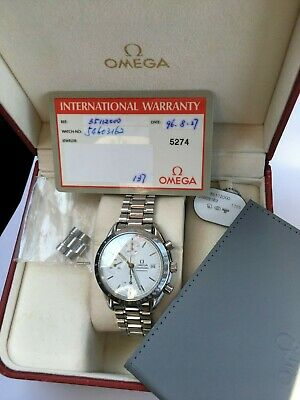 $ CDN3200 • Buy Omega Speedmaster Automatic 17 Jewels Cal. 1155 Rare White Dial Box Papers Omega