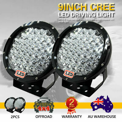 AU123.58 • Buy Pair Hot 2X 9inch 99999W Cree Led Spot Work Driving Lights OFFROAD Black Lights
