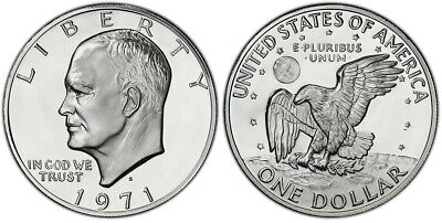 $22.85 • Buy 1971 S Eisenhower Silver One Dollar $1 Proof  IKE  Coin