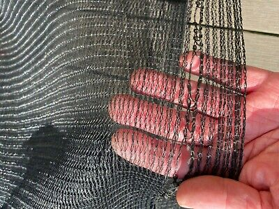 Black 1.5m X 3m Garden / Greenhouse Shade /  Butterfly  Netting Pest Control • 9£