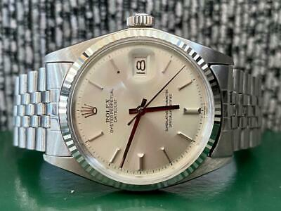 $ CDN8786.62 • Buy Vintage Rolex Datejust 1601 White Gold & Steel Watch - Box & Paperwork Mint 1963