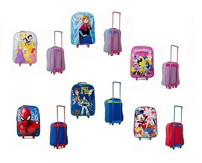 Childrens Trolley Suitcase Cabin Bag Luggage Disney Toy Story Frozen Spiderman • 12.95£