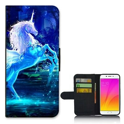 AU14.95 • Buy Anti Shock Wallet Cover Case For Oppo A59 F1s R9s Plus - Unicorn Magic T00001