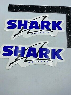 2 X Large Genuine SHARK Helmets MOTORCYCLE CRASH HELMET Logo Sticker • 6.99£