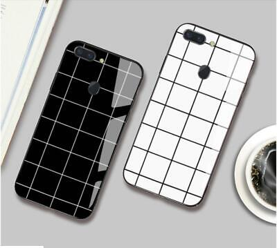 AU15.01 • Buy For OPPO A57  A73 F5 AX7 Case Cover Trend Lattice Black Tempered Glass Back