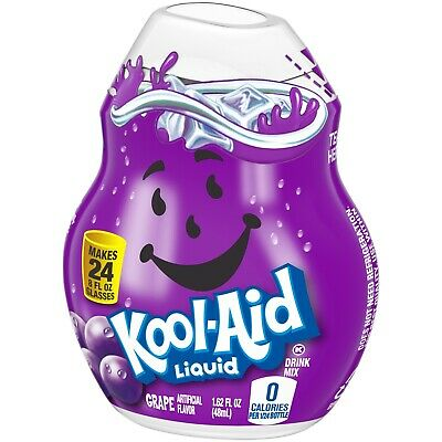 KOOL-AID GRAPE Liquid Water Enhancer (24 Servings X 2 Bottles) Fast FREE Ship • 9.83£