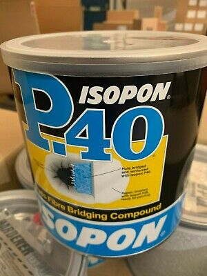 U-POL Isopon P40 Fibre Glass Compound Bridger 1.85 Ltr P40/4 • 29.75£