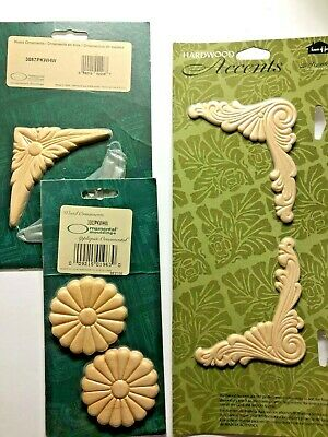 $4.99 • Buy Ornamental Round Mouldings Appliques Wood NEW #3003PKWHW