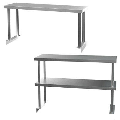 Catering Stainless Steel Table Commercial Overshelf Kitchen Prep Bench Top Rack • 85.95£