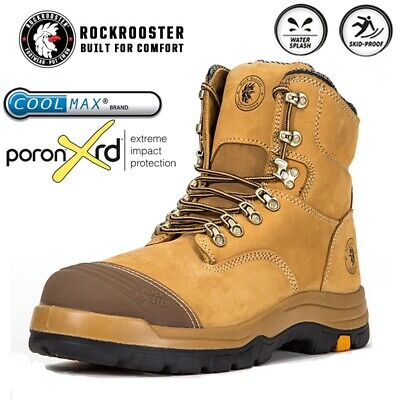 AU49.99 • Buy ROCKROOSTER Men's Work Boots Safety Steel Toecap Water Resistant Lace-Up Boots