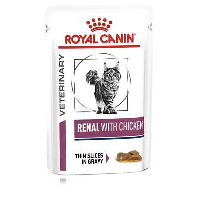 ROYAL CANIN VET RENAL WITH CHICKEN/BEEF/FISH Cat Food - 48 X POUCH BEST PRICE!! • 44.90£