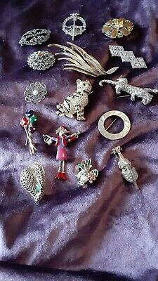 $ CDN54.42 • Buy Lot Of 15 Mostly Vintage Costume Jewelry Pins