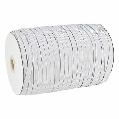 $ CDN29.99 • Buy 200yds/Roll 1/4  Flat Elastic Cords Knit Braided Sewing Bands Ropes White 6mm