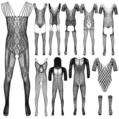 $4.60 • Buy Sexy Men's Lingerie Fishnet Footed Stretchy Pantyhose Tights Full Body Stocking
