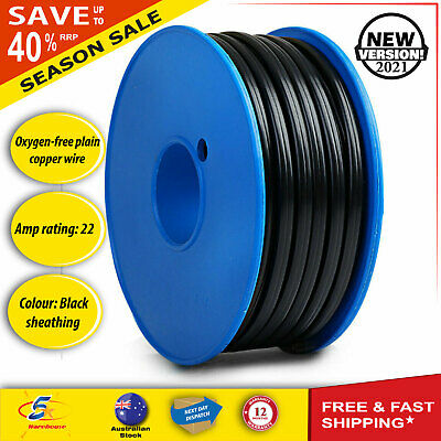 AU46.38 • Buy Twin Core Wire Electrical Automotive Cable 2 Sheath 450V 4MM 30M