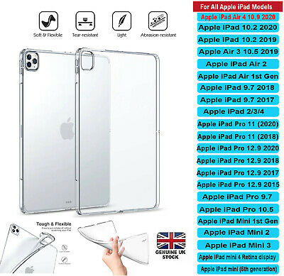 AU5.20 • Buy Transparent Clear Silicone Case Cover Apple IPad 2/3/4 AIR 4 MINI PRO 10.5 10.2