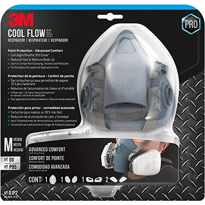 AU134.99 • Buy 3M Cool Flow Valve Professional Paint Respirator 7502 Silicone Mask N95 P2