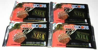 AU14.99 • Buy 1993/94 Hoops By Skybox NBA Basketball 4-Pack Series 2 Lot - Brand New From Box
