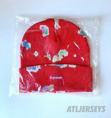 $ CDN103.74 • Buy SS20 Supreme Red Box Logo Bogo Splatter Dyed Beanie