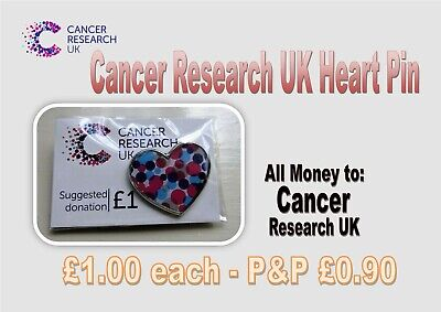 £1 • Buy Cancer Research UK Heart Pin £1