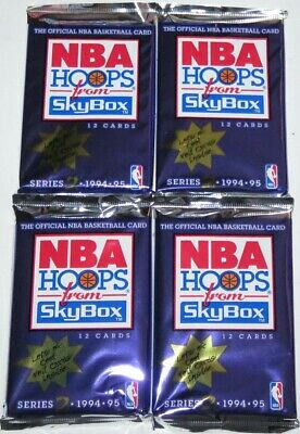 AU17.99 • Buy 1994-95 NBA Hoops From Skybox Series 2 4-Pack Lot Brand New Sealed From The Box