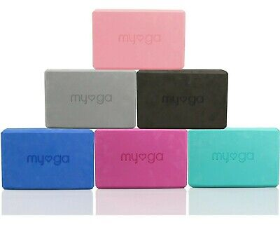 MYGA Yoga Pilates Foam Block Gym Fitness Brick Stretch Sport Home Exercise  • 7.99£