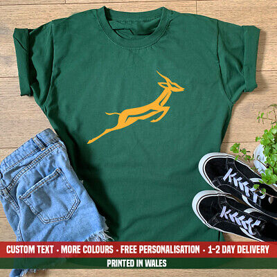 £10.99 • Buy Ladies Springbok T-shirt  South Africa African Rugby Cricket Birthday Gift Top