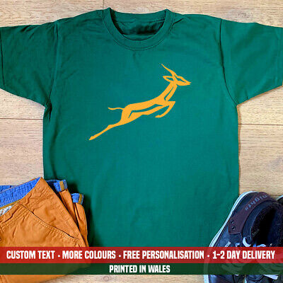 £10.99 • Buy Springbok T-shirt South Africa African Rugby Birthday Fathers Day Dad Gift Top