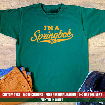 £10.99 • Buy I'm A Springbok T-shirt South Africa African Rugby Birthday Fathers Day Dad Gift