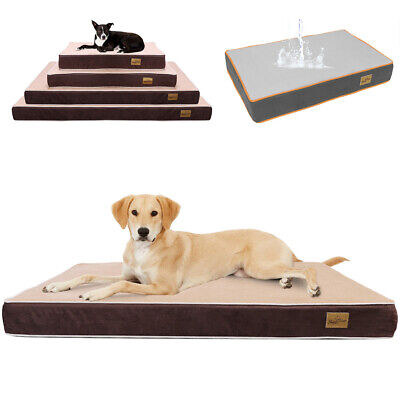 Chew Resistant Waterproof Dog Bed Easy Clean Tough Durable Cage Kennel Sleep Mat • 27.97£