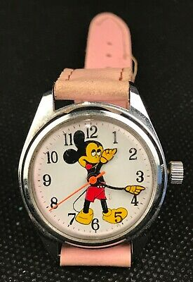 $ CDN75.05 • Buy Montre Watch Vintage, Mickey Mouse. Mécanique, One Jewel Unadjusted. Swiss Parts