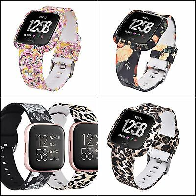 $ CDN32.06 • Buy Bands For Fitbit Versa/Versa 2/Versa Lite Silicone Straps With Protective Case