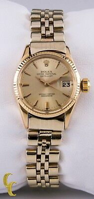 $ CDN5413.40 • Buy Rolex Womens Oyster Perpetual DateJust 6517 18k Yellow Gold W/ Jubilee Band