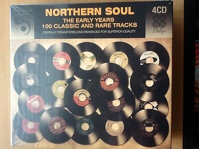 Northern Soul.     Early Years.   100 Classic And Rare Tracks.   Four Cd Boxset • 24£