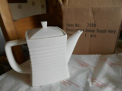 Belleek Living  Solace Tea Pot Ivory Brand New In Box 7324 • 40£