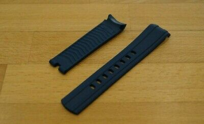 20mm RUBBER STRAP NAVY BLUE & PIN BUCKLE FOR OMEGA SEAMASTER DIVERS WATCHES   • 25.98£