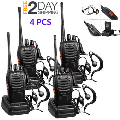 $ CDN98.80 • Buy Long Range Walkie Talkie 4 Set 5 Mile 2 Way Radio Charge Headset UHF Waterproof