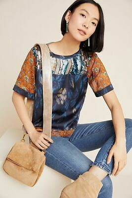 $ CDN124.63 • Buy New Anthropologie Toulouse Sequined Eclectic Patterned Blouse Top Medium