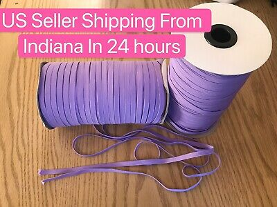 $ CDN13.29 • Buy Lavender Purple 10 Yards 1/4 Inch (6 Mm) Elastic Band ~ Braided Cordon