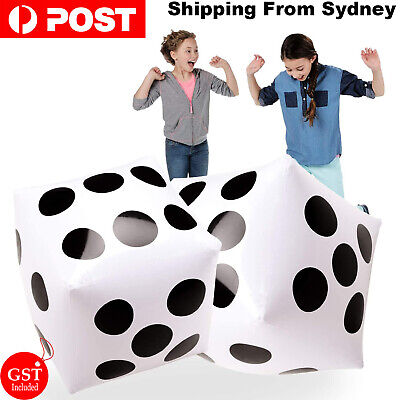 AU12.99 • Buy 2Pcs 32cm Jumbo Large Inflatable Dice Dot Diagonal Giant Blow Up Toy Party Air