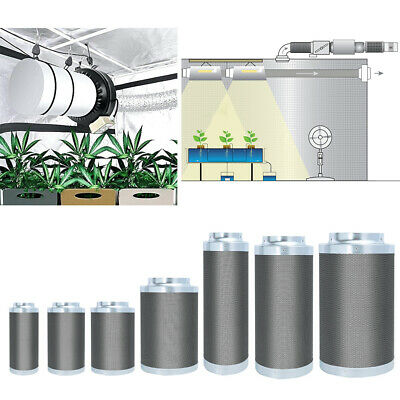 Hydroponic Grow Room Air Carbon Filter RC412 Activated Charcoal Odour Control UK • 47.94£
