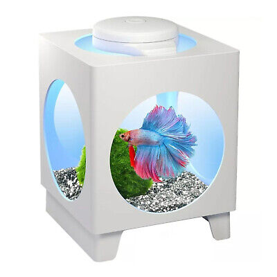 AU30.95 • Buy Tetra Betta Projector Fish Tank White With LED Light 1.8L