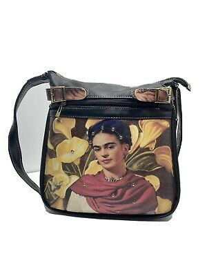 $40 • Buy Frida Kahlo Faux Leather Retro Print Adjustable Strap And Width Of Bag