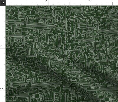 $20.50 • Buy Circuit Board Motherboard Microchip Computer Fabric Printed By Spoonflower BTY