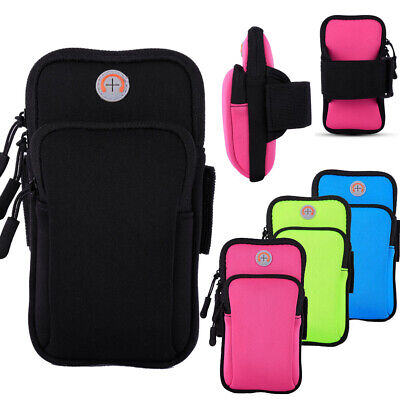 AU19.99 • Buy Sports Armband Cell Phone Holder Arm Band Case Gym Running Pouch Jogging Bag