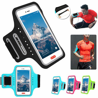 AU17.84 • Buy Sports Running Jogging Gym Arm Band Mobile Phone Holder Bag Exercise Case Cover