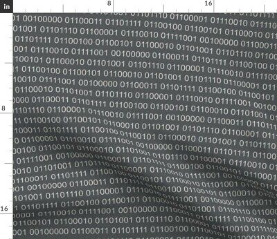 $20.50 • Buy Binary Code Computer Coding Stem Tech Fabric Printed By Spoonflower BTY